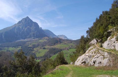 Pico san Vicente desde  El Haza